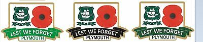 Plymouth Argyle  Limited Edition Set Of 3  Coloured Badges