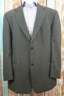 Hugo Boss 46R Wool 2 Button Single Breasted Grey Mens Blazer