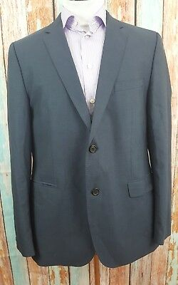 Hugo Boss 42R Wool 2 Button Single Breasted Dark Blue Mens Blazer