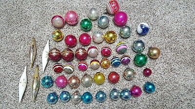 Lot of 52 vintage mercury glass christmas ornaments USA GERMANY SHINY BRITE