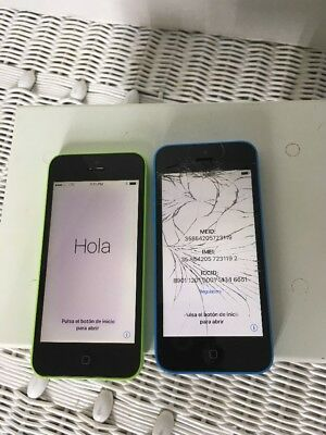 5c iPhones for parts 1 Green and 1 Blue sprint