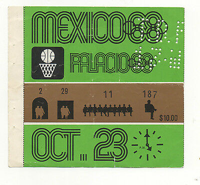 Orig.Ticket   Olympic Games MEXICO 1968  -  BASKETBALL  23.10.  !!  VERY RARE