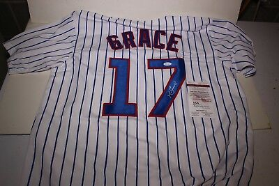 Auto Autograph Mark Grace Chicago Jersey With Coa Jsa