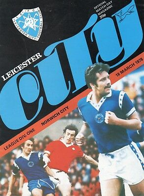 Leicester City V Norwich City 1St Division 18/3/1978