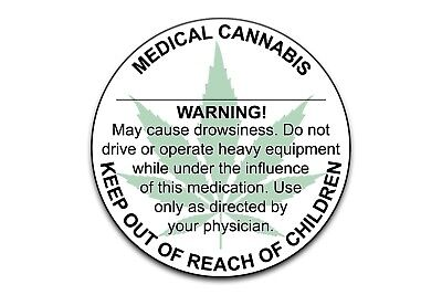 "Generic 1"" Inch Diameter Medical Marijuana Concentrate Label 50 100 200 500 1000"