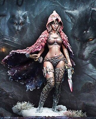 █ Resin 1/24 75mm Queen of the Wolf Red Riding Hood Unpainted TS228