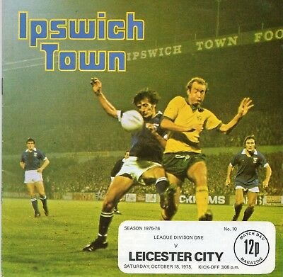 Ipswich Town V Leicester City 1St Division 18/10/1975