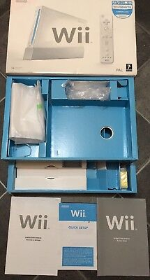 Nintendo Wii console replacement empty box only. Includes Manuals