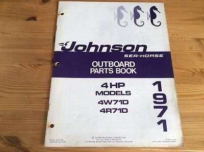 Johnson Sea-Horse OMC parts catalog (1971) - 4 hp models