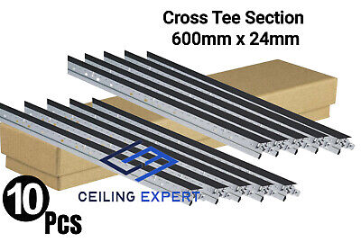 Black Cross Tee Section, 1200mm x 24mm, Suspended Ceiling Grid System Component