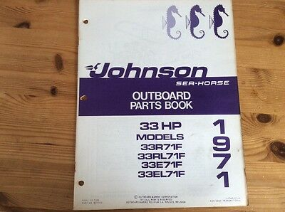 Johnson Sea-Horse OMC parts catalog (1971) - 33 hp models