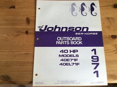 Johnson Sea-Horse OMC parts catalog (1971) - 40 hp models