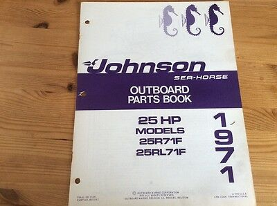 Johnson Sea-Horse OMC parts catalog (1971) - 25 hp models