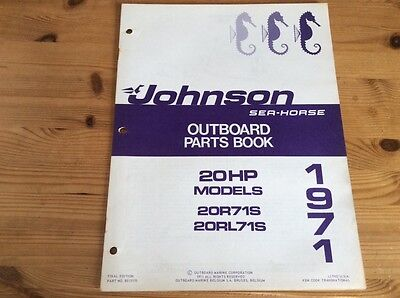 Johnson Sea-Horse OMC parts catalog (1971) - 20 hp models