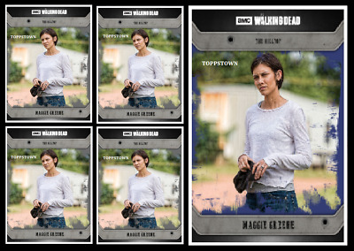 Topps The Walking Dead Card Trader COMMUNITY MAGGIE GREENE Black & Blue Digital