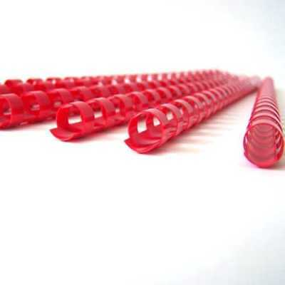 25 x 6mm Acco Rexel Office School Plastic Ring-Binding Combs -A4- Red