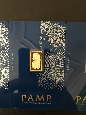PAMP SUISSE 2.5g (1 X 2.5 GRAM) 999.9 GOLD BAR SEALED New Style