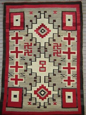 Navajo Rug: Spider Woman Crosses and Whirling Logs