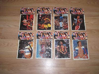 Vintage 1983 Group Of 8 Rolling Stones Puffy Stickers/Mick Jagger/Free Shipping!
