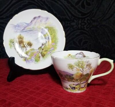 "Shelley "" English Lakes "" Tea Cup and Saucer Set 13788"
