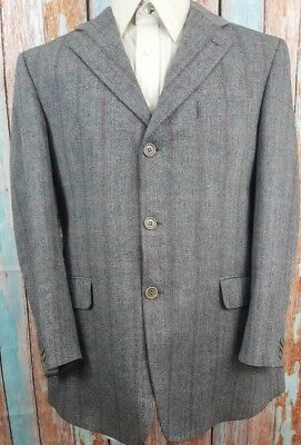 Ermenegildo Zegna 42R Wool Mohair And Cashmere 3 Button Single Breasted Blazer