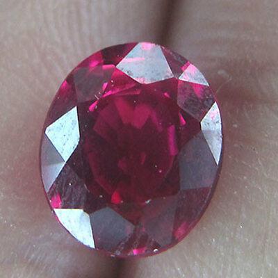 2.00 Cts Proudly Present Best Color Purity Unheat Vivid Red Natural Ruby