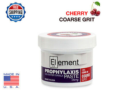 COARSE GRIT CHERRY Element Prophy Paste Dental Prophylaxis 100g (3.5 oz) Jar