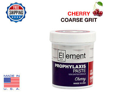 COARSE GRIT CHERRY Element Prophy Paste for Dental Prophylaxis - 170g (6 oz) Jar