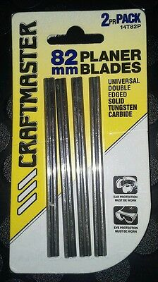 CRAFTMASTER TUNGSTEN CARBIDE PLANER BLADES. 2Pair Pack. (GENUINE).