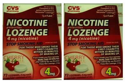 Nicotine Polacrilex Lozenges Cherry 4 mg, 144 Lozenges