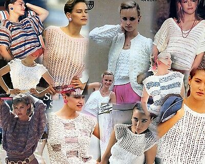 Ladies Summer Spring Knitting Patterns Lightweight Jumpers Top Cardigans