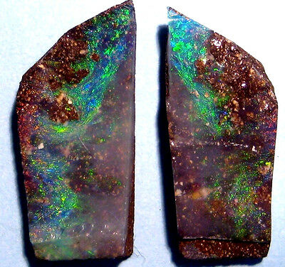 Genuine Australian Queensland Boulder Rough Opal Splits (AOW 1178)