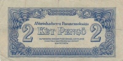 1944 Hungary 2 Pengo Russian Occupation Note, Pick M3
