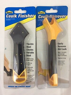 Homax Caulk Remover Tool and Caulk Finisher Tool  Comfort Grip Handle