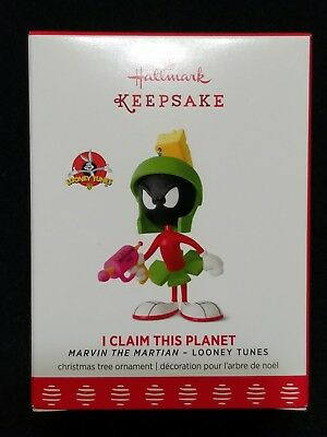 New 2017 Hallmark Marvin Martian I Claim This Planet Limited Christmas Ornament