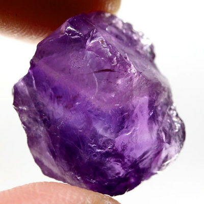 16.19Ct.dazzling! Rough Purple Natural Amethyst Brazil Free Shipp!
