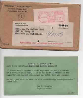 (2) 1958 U.S. PROOF SET. Coins are hermetically sealed in the original Envelope