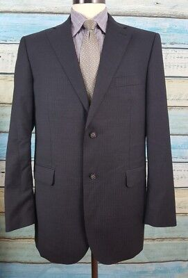 Joseph Abboud  Size 44L Wool Black  2 Button Single Breasted  Mens Blazer