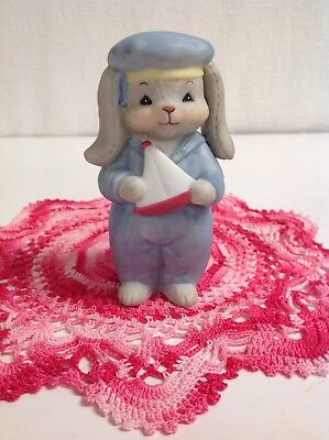 """Lucy And Me """" Rosie Bunny Boy Sailor"""" Bear Made In 1984 Only Lucy Rigg Enesco"""