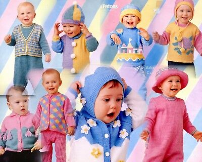 Patons Knitting Pattern Book – Babies in Candy & Sherbet in 3 & 4 Ply.