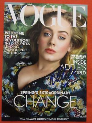 Adele Vogue Cover Signed Private 8x10
