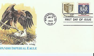 Scott #O130 - Official Mail FDC -  $.17 stamp - Jan 12, 1983