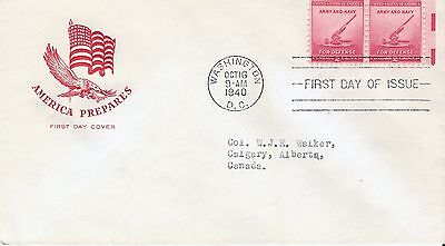 Scott #900 FDC - Army Navy pair of stamps with House of Farnum cachet