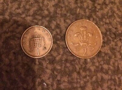 VERY RARE 2p New Pence And 1p New Pence Both Are 1971