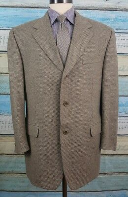 CANALI  PROPOSTA Size 54R Beige 3 Button Single Breasted Wool/Cashmere Blazer