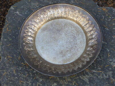 Antique Large Silver Hand Hammered Repousse Bowl by COOKE & KELVEY ,CALCUTTA