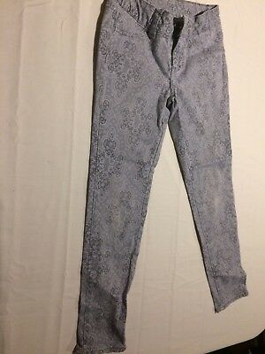 Girls Total Girl Skinny Floral Lace Print Jeans Size 7