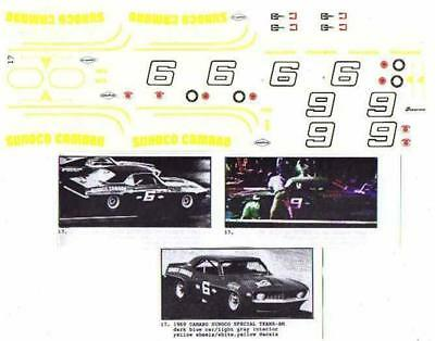 Fred Cady Decal #17 To Do The 1969 Camaro Sunoco Special Trans-AM