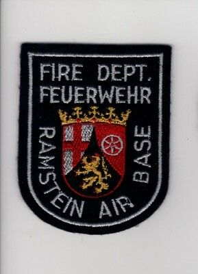 1980's felt Ramstein Air Base, Germany Fire Dept. Patch Crash Rescue