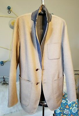 Banana Republic Men's Slim 38S Blazer (Reversible Gray/Camel)
